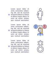ícone do conceito de transição de gênero com texto vetor