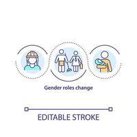 papéis de gênero mudam ícone de conceito vetor