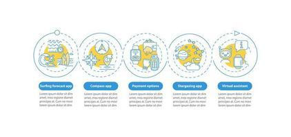 modelo de infográfico de vetor de atributos smartwatch