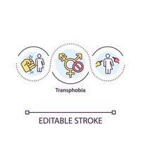 ícone do conceito de transfobia vetor