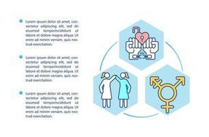 ícone do conceito de diversidade de gênero com texto vetor