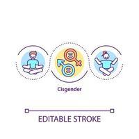 ícone do conceito cisgênero vetor