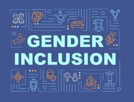 banner de conceitos de palavras de sociedade inclusiva de gênero vetor