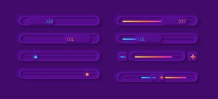 kit de elementos da interface do usuário do painel de ajuste