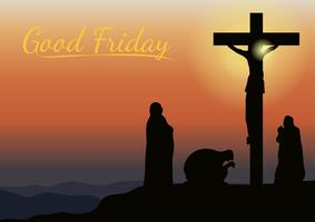 Fundo da Sexta-feira Santa vetor