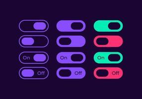 mudar controles deslizantes para kit de elementos de interface do usuário de mídia vetor