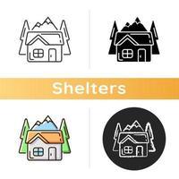 ícone do bothy shelter vetor