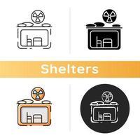 ícone de abrigo radioativo vetor