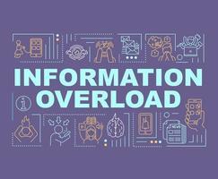 banner de conceitos de palavras de sobrecarga de informação vetor