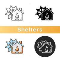 ícone do centro de aquecimento vetor