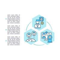 fácil acesso ao ícone do conceito de médicos com texto vetor