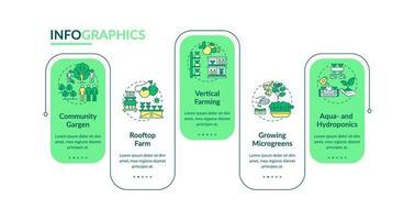 modelo de infográfico de vetor de agricultura urbana