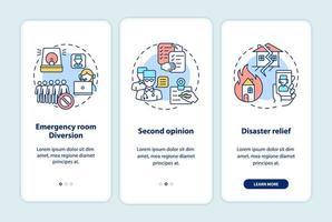 tela da página do aplicativo móvel dos profissionais da telemedicina com conceitos vetor