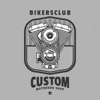 Etiquetas do motor de motocicleta vintage vetor