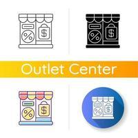 ícone de loja de outlet vetor