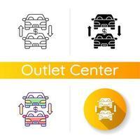 ícone de comércio de automóveis vetor