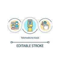 ícone do conceito de quiosque de telemedicina