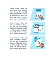 ícone do conceito de opções de pagamento de hipoteca com texto vetor