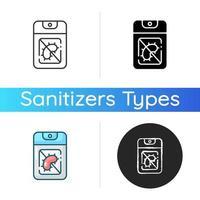 ícone de desinfetante para mãos de bolso