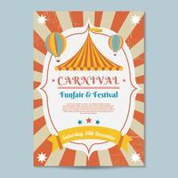 Vector de modelo de cartaz de carnaval