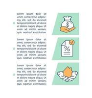 ícone do conceito de contrato de hipoteca com texto