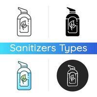 ícone de desinfetante orgânico para as mãos vetor