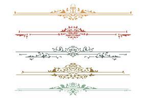 Lindos elementos de design de Art Nouveau vetor