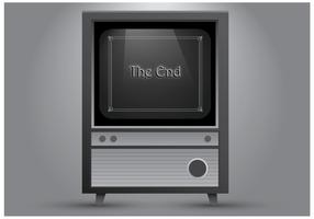 Velho Televisor vetor