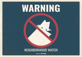 ilustração do relógio da vizinhança do estilo retro