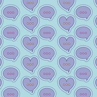 desenho de vetor de fundo de corações e bolhas