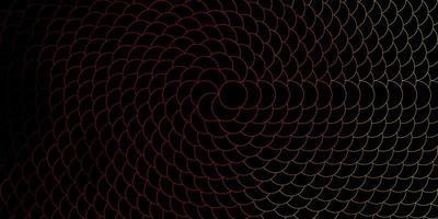 layout de vetor vermelho e amarelo escuro com formas de círculo.