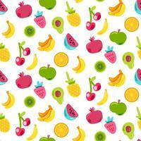 frutas suculentas de verão brilhante pintadas com padrão uniforme