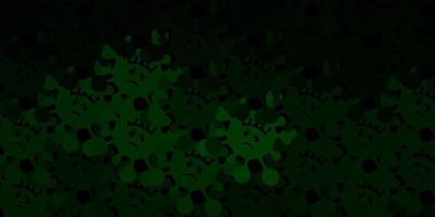 modelo de vetor verde escuro com sinais de gripe.