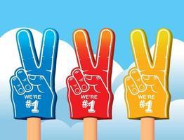 conjunto de cores de mãos de espuma. vetor