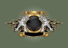 emblema do brasão de tigre. vetor