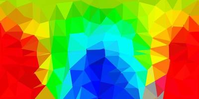 textura de triângulo abstrato de vetor multicolorido escuro.