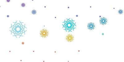 fundo do vetor multicolorido claro com formas aleatórias.
