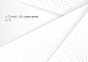 design moderno abstrato de meio-tom cinza e branco vetor