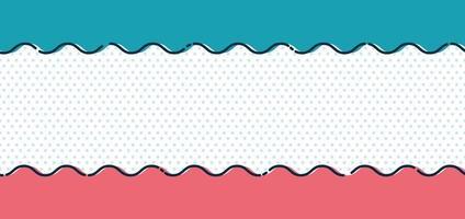 linha de onda azul e rosa abstrata em fundo de bolinhas e estilo mínimo de textura. vetor