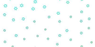 textura de vetor verde claro com símbolos de doença.