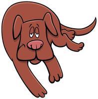 desenho animado cão sonolento personagem animal engraçado vetor