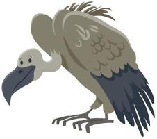 abutre pássaro animal personagem de desenho animado vetor