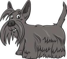 ilustração dos desenhos animados do cão escocês terrier puro