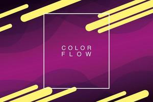 fluxo de cores vivas com pôster de fundo de moldura quadrada vetor