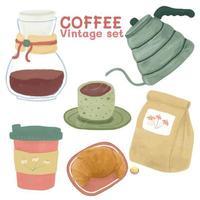conjunto de equipamentos de café estilo vintage