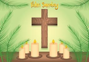Fundo de domingo de palmeiras vetor