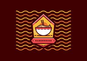 ramen badge vector