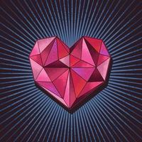 amo diamante conceito ilustração vetorial vetor