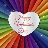 feliz dia dos namorados ilustração de coração cortado a laser vetor