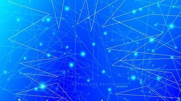 fundo abstrato do vetor. fundo polygonal space low poly com pontos e linhas de conexão